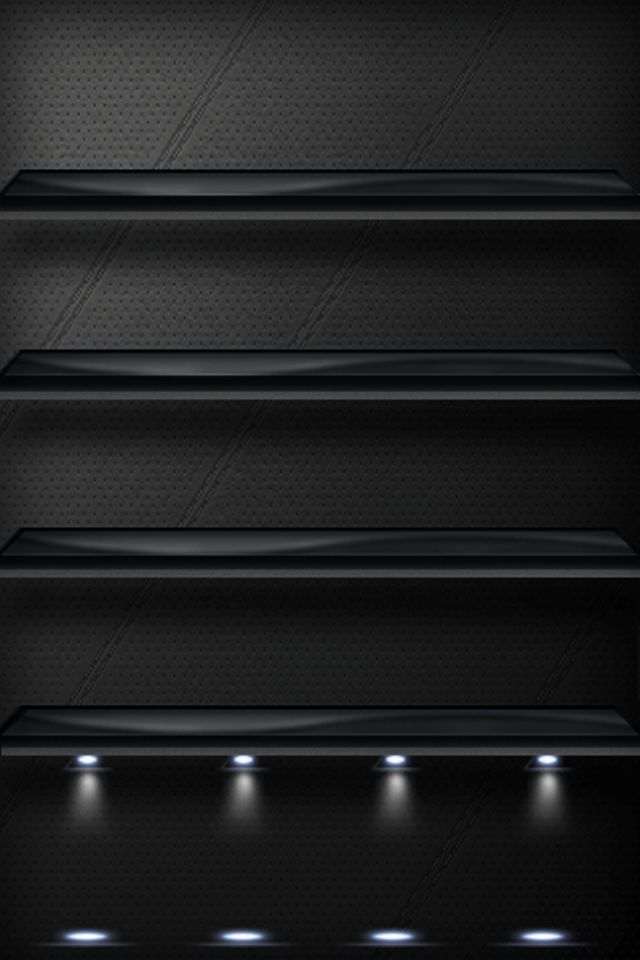 Black Background Shelf For iPhone