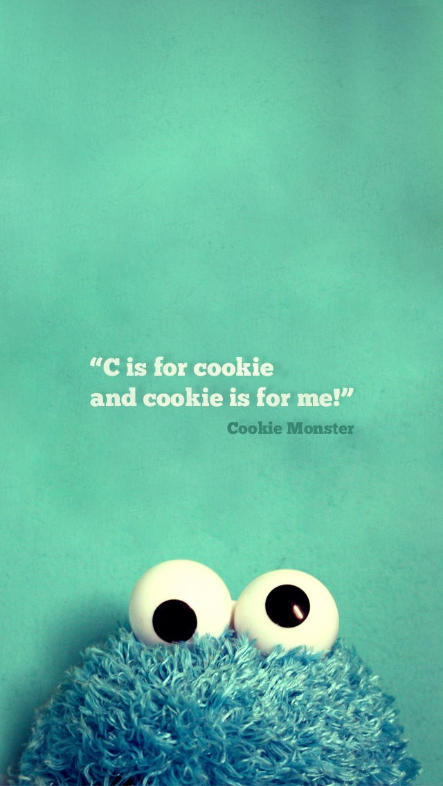 Cookie Monster iPhone Wallpaper