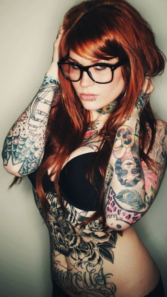 Cool Tattoo Girl