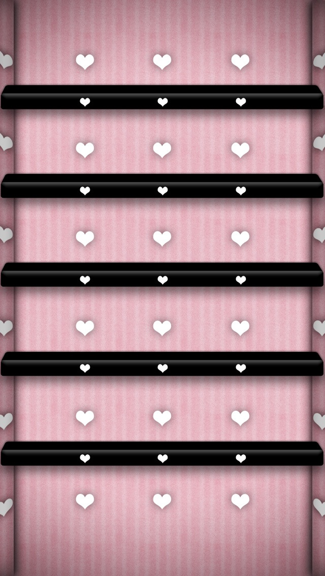 Dark Shelf With Heart For iPhone