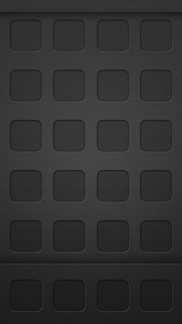 Dark Black App Grid Homescreen