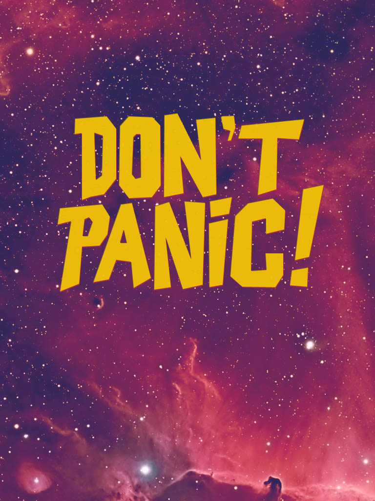 Don't Panic Painted Background