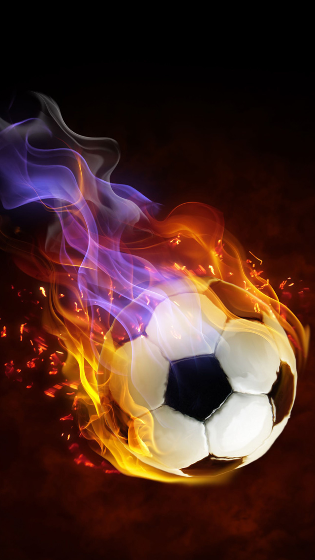 Football Fire iPhone Wallpaper
