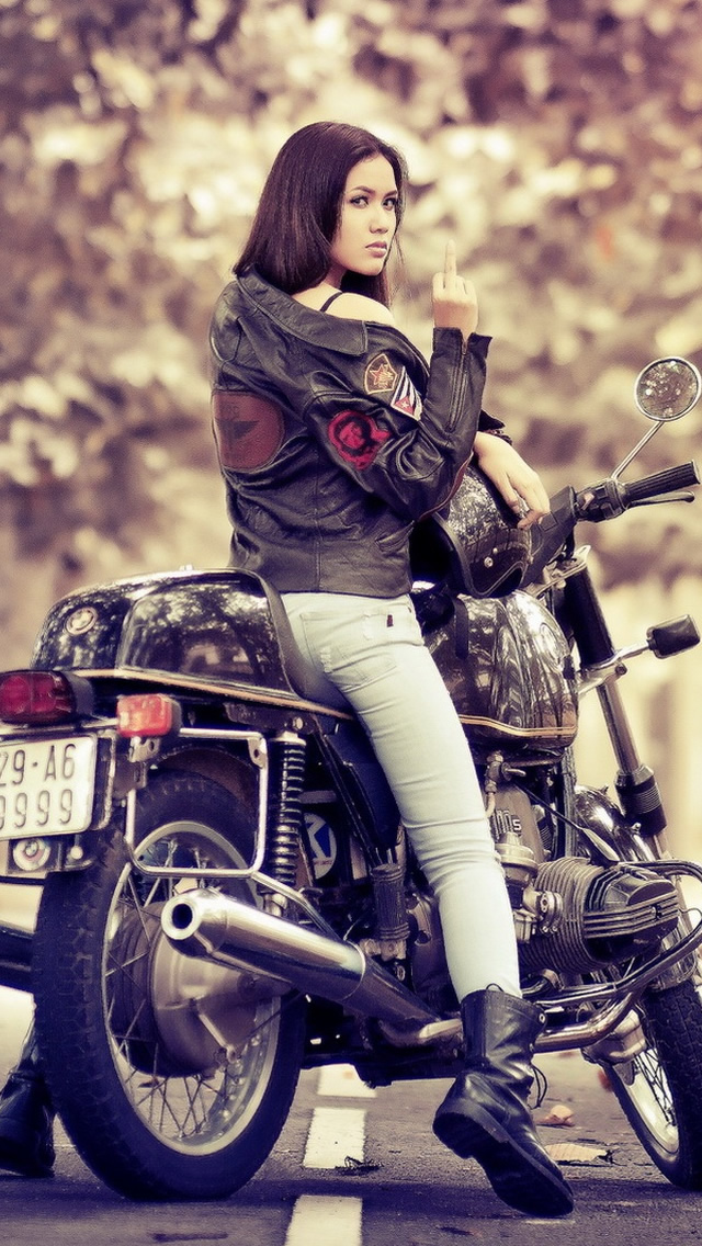 Girl On Bmw Bike