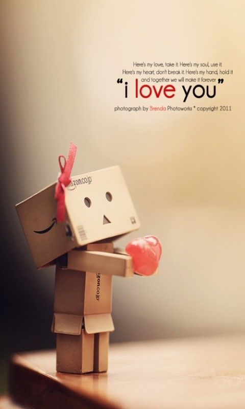 Love You Wallpaper Mobile : I Love u Danbo