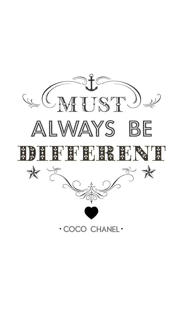 Must Always Be Different