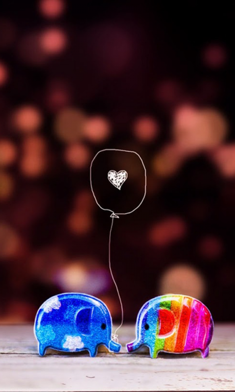 Small Love Wallpaper For Mobile : Small cartoon in Love