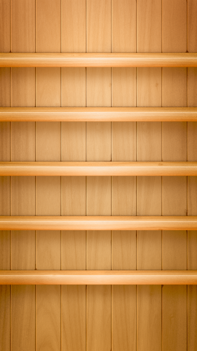 Wooden Background Shelf iPhone