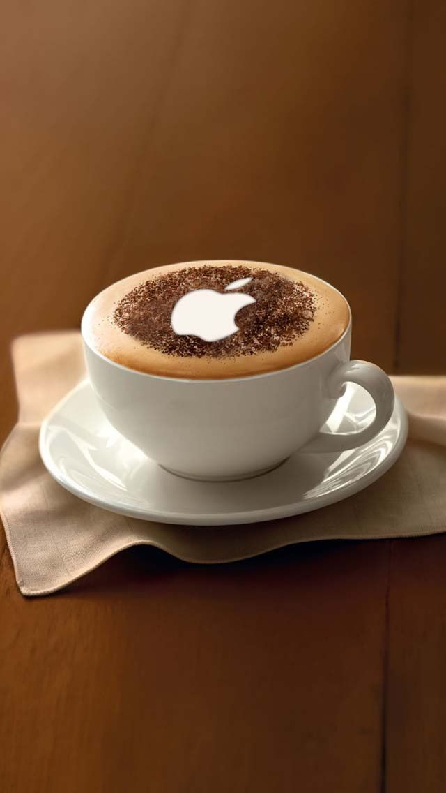 Apple Logo on Coffee