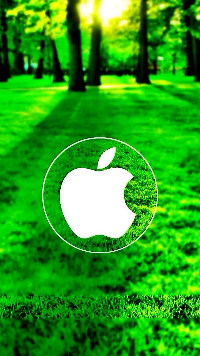 Apple Logo on Grass