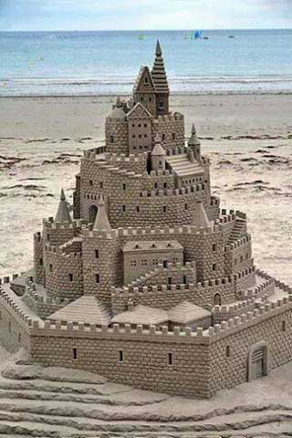 Beach Sand Castle iPhone Wallpaper