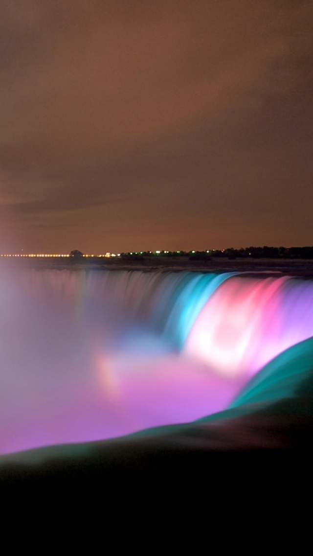 Colorful Niagara Fall