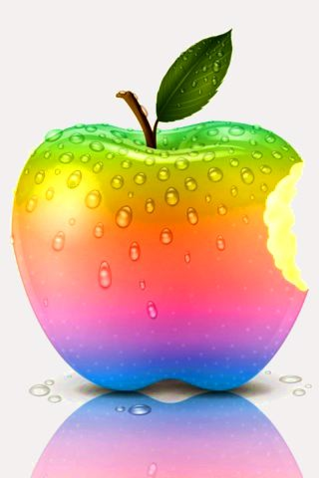 Friendship Day Rainbow Apple iPhone