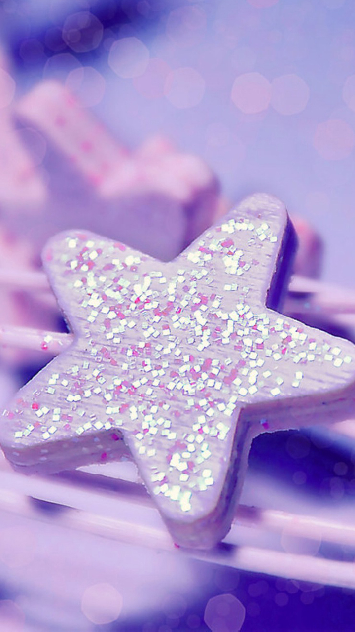 Glitter On Star Mobile Wallpaper Phone Background
