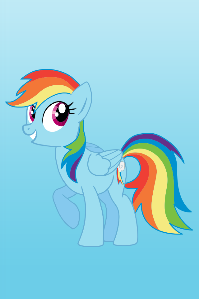 Rainbow Pony iPhone HD Image