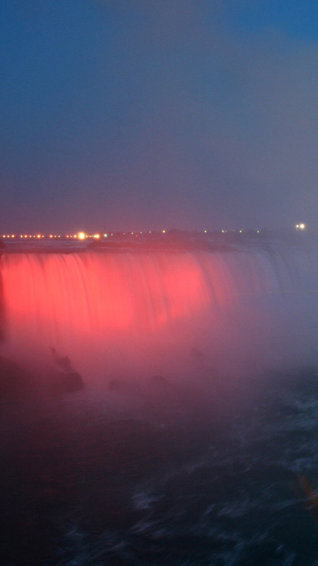Red Niagara Fall
