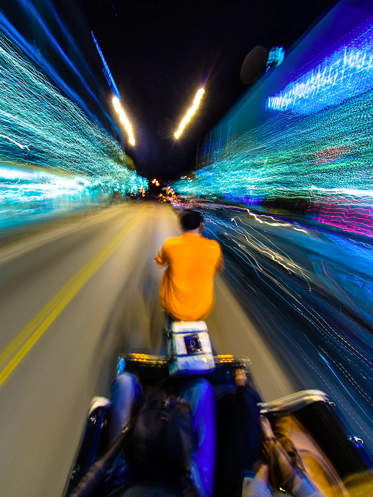 Speed View From Bike