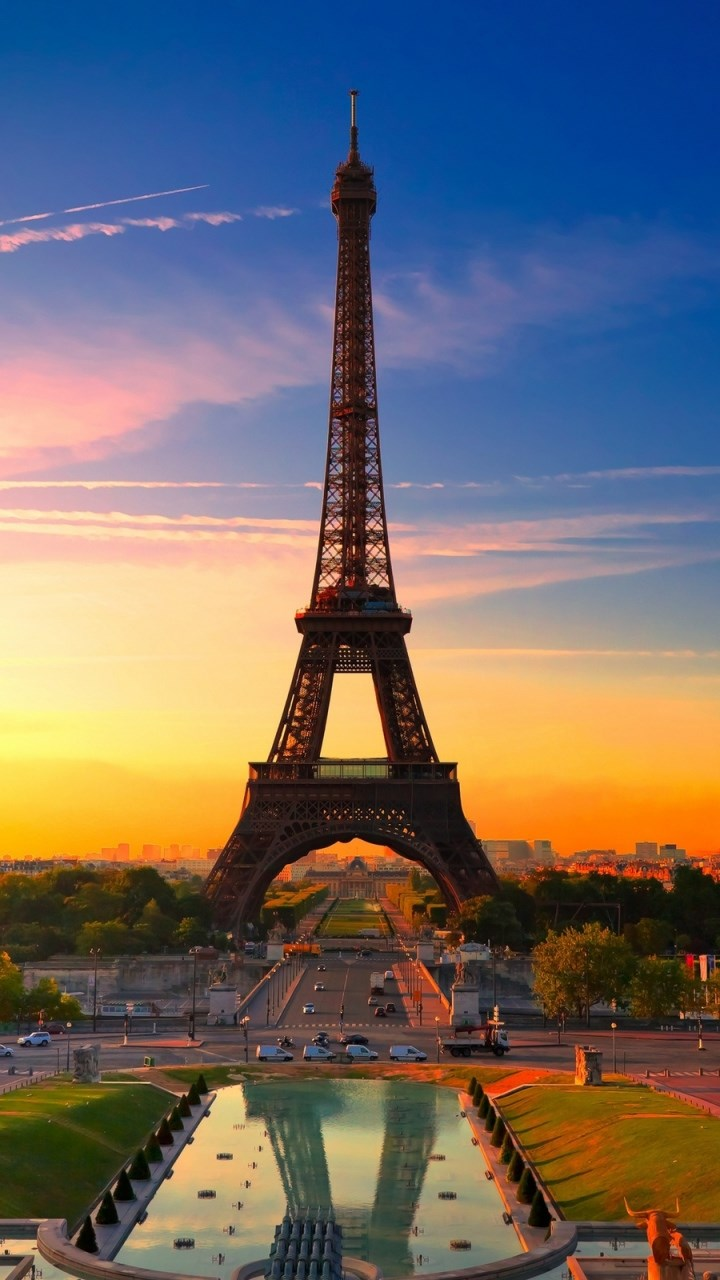 Sunset Eiffel Tower Wallpaper