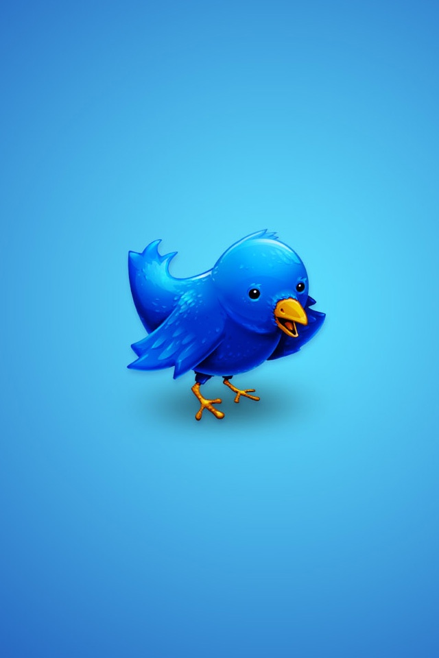 Twitter iPhone Blue Image