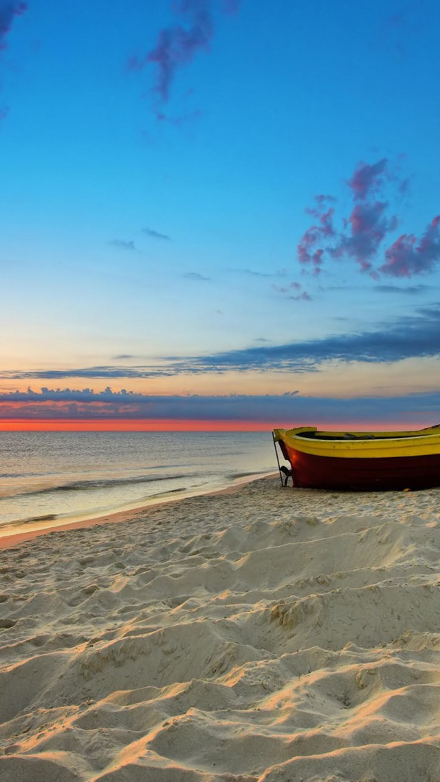 Alone Boat on Beach