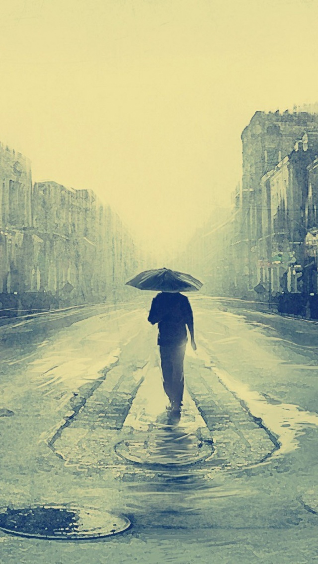 The gallery for --> Man Alone In Rain
