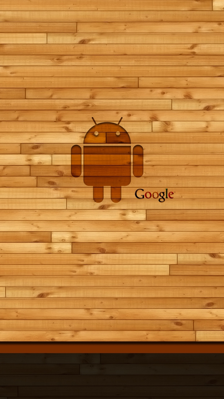 Android Logo on Wood