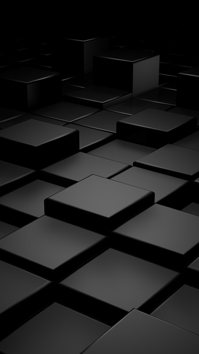 Black 3D Blocks Pattern