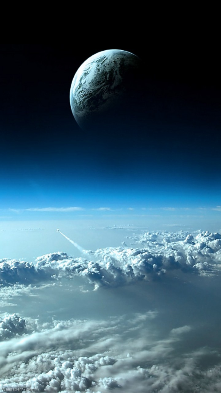 Clouds & Earth Seen From Space