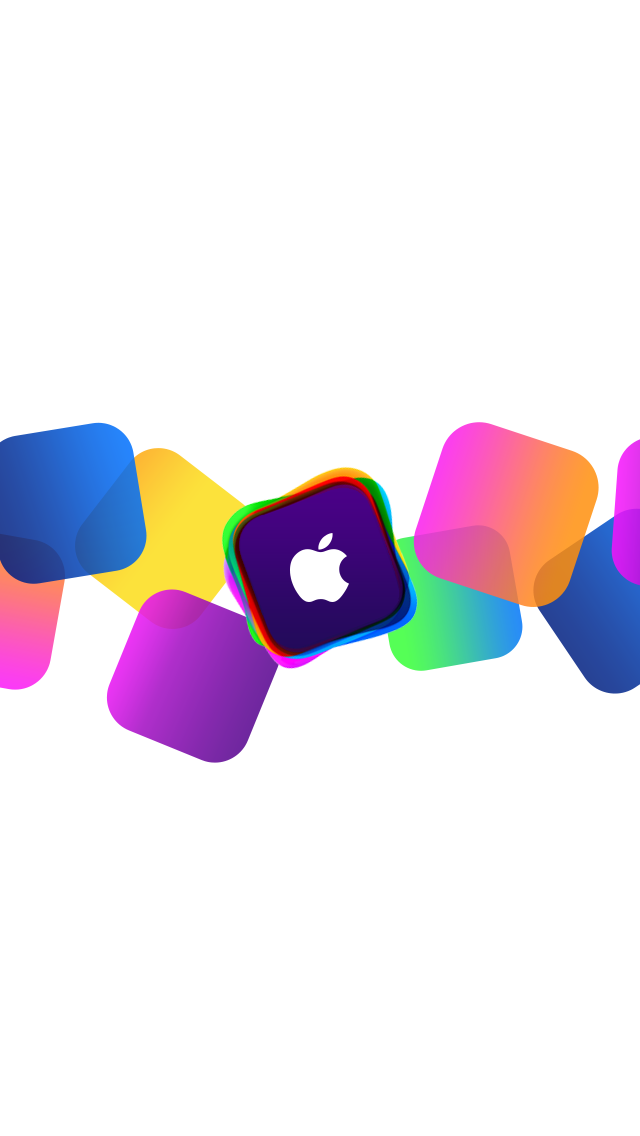 Colorful Box Apple Logo