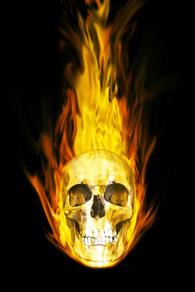 cool wallpaper fire skull - photo #24