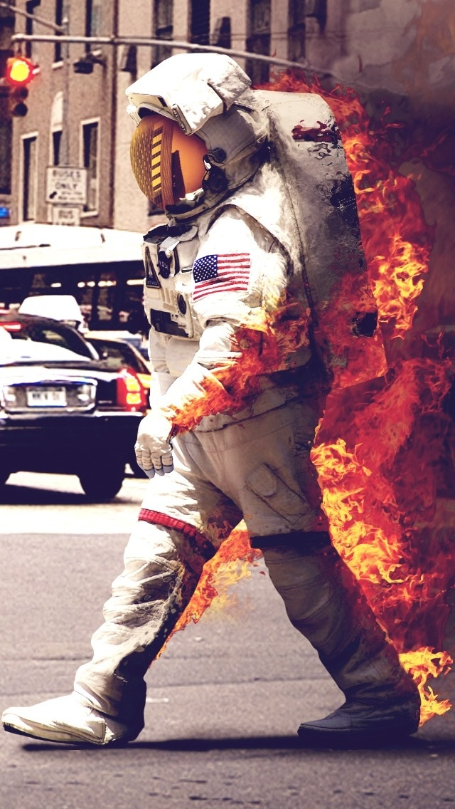 Fire Man Wallpaper