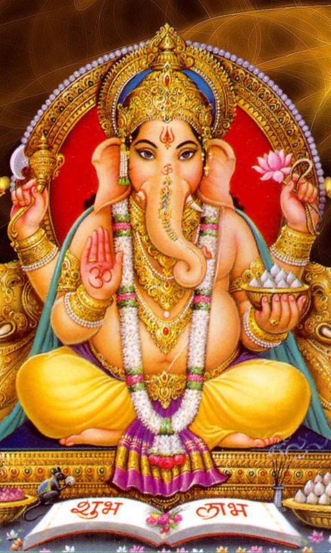 Lord Ganesha Phone Wallpaper