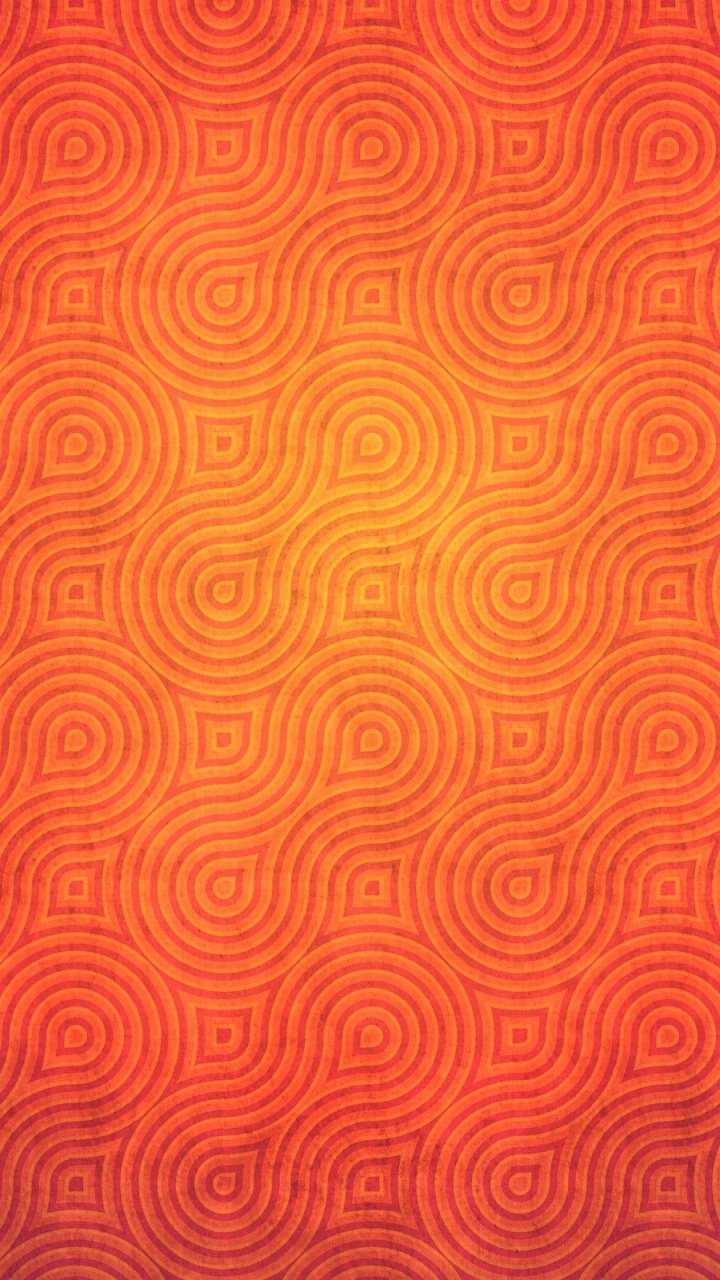 Abstract Pattern in Orange Color