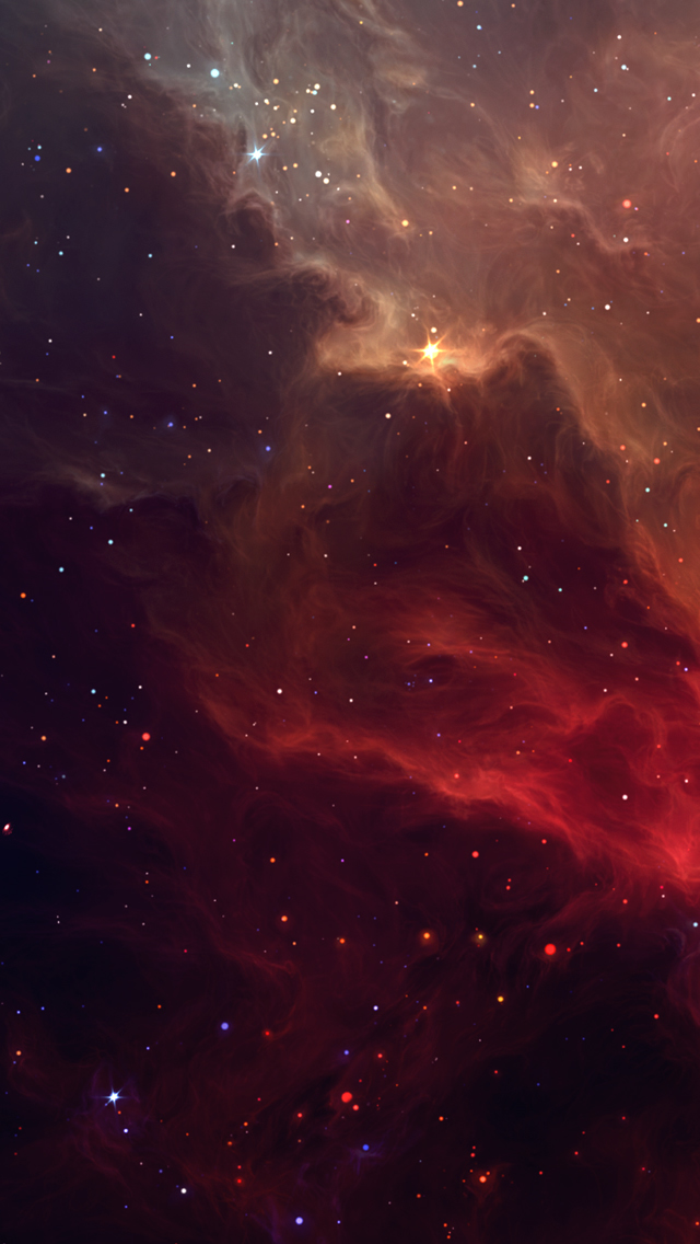 Beautiful Red Galactic Nebula