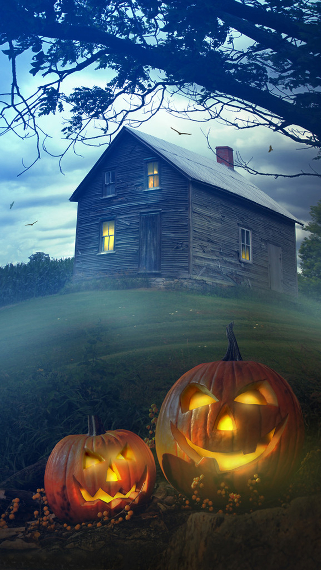 Halloween Old House Mobile Wallpapers
