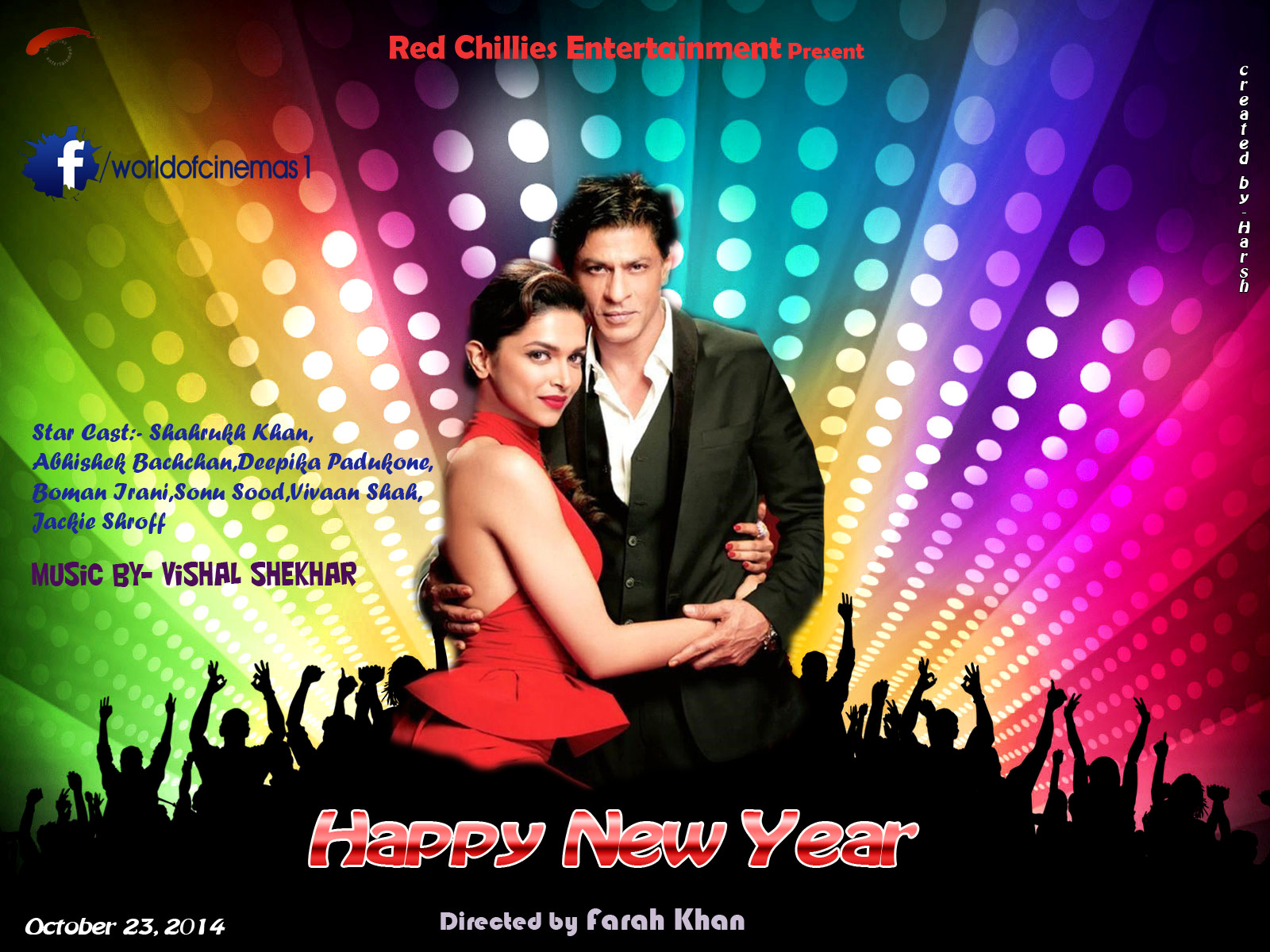 Happy New Year Movie Wallpaper For Mobile Happy New Year 2015 Movie
