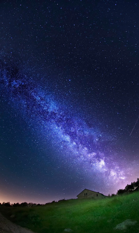 Milky Way View From Earth