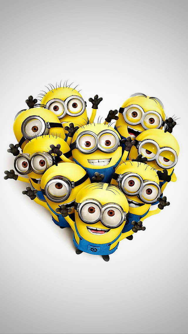 Minions in Heart Shape