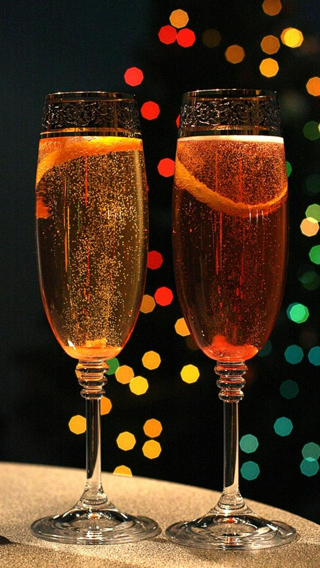 new year party drink mobile wallpaper phone background