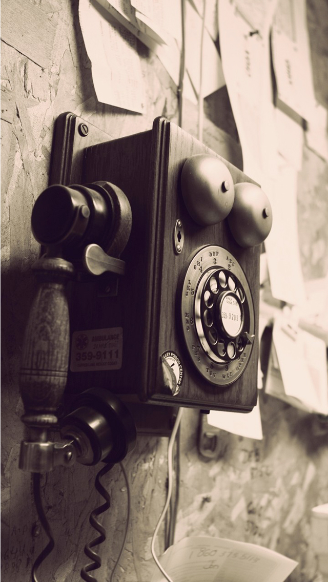 Vintage Telephone Background