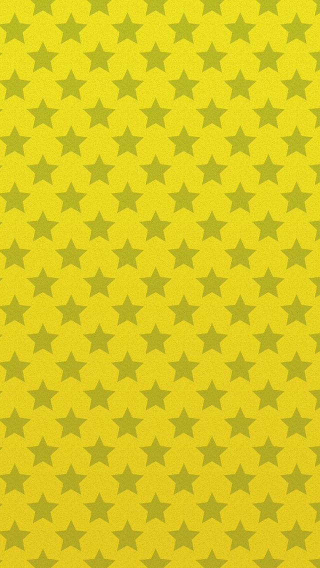 Yellow Background Stars Pattern