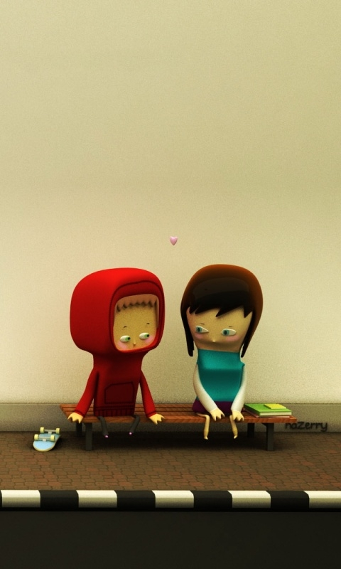 Love cartoon Wallpaper For Mobile : cartoon Love Wallpaper
