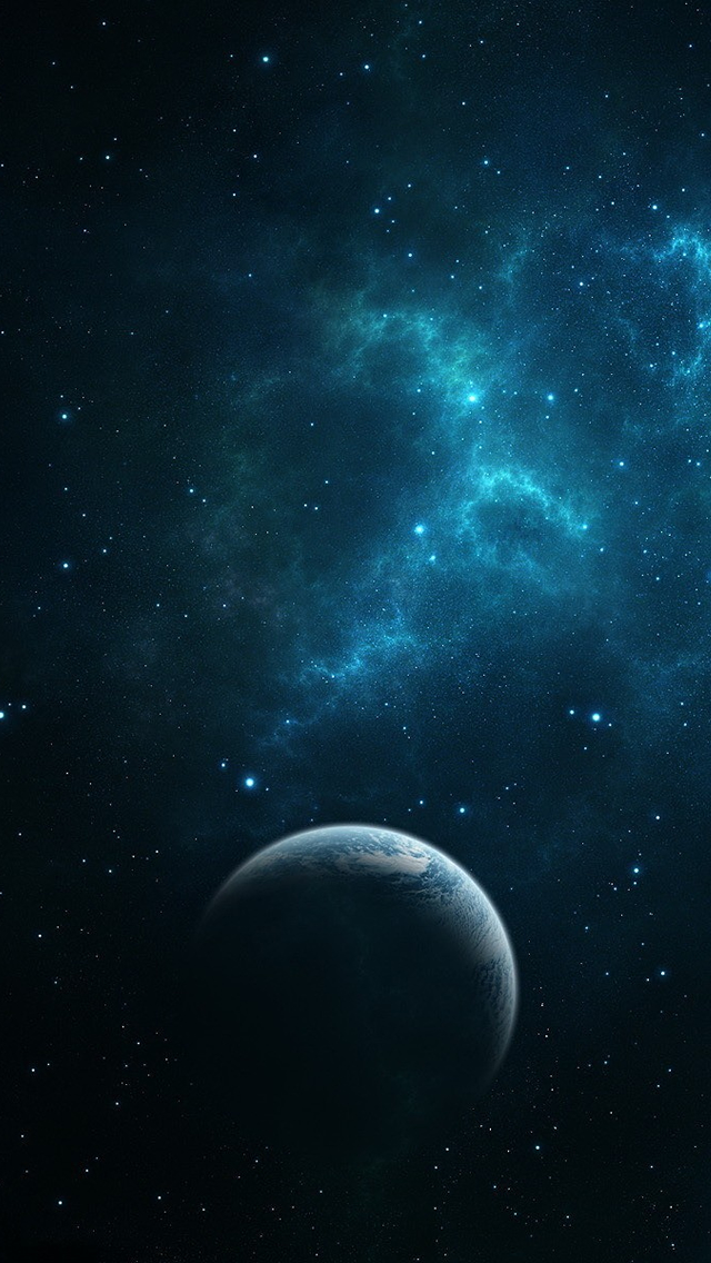 Dark Blue Space Picture