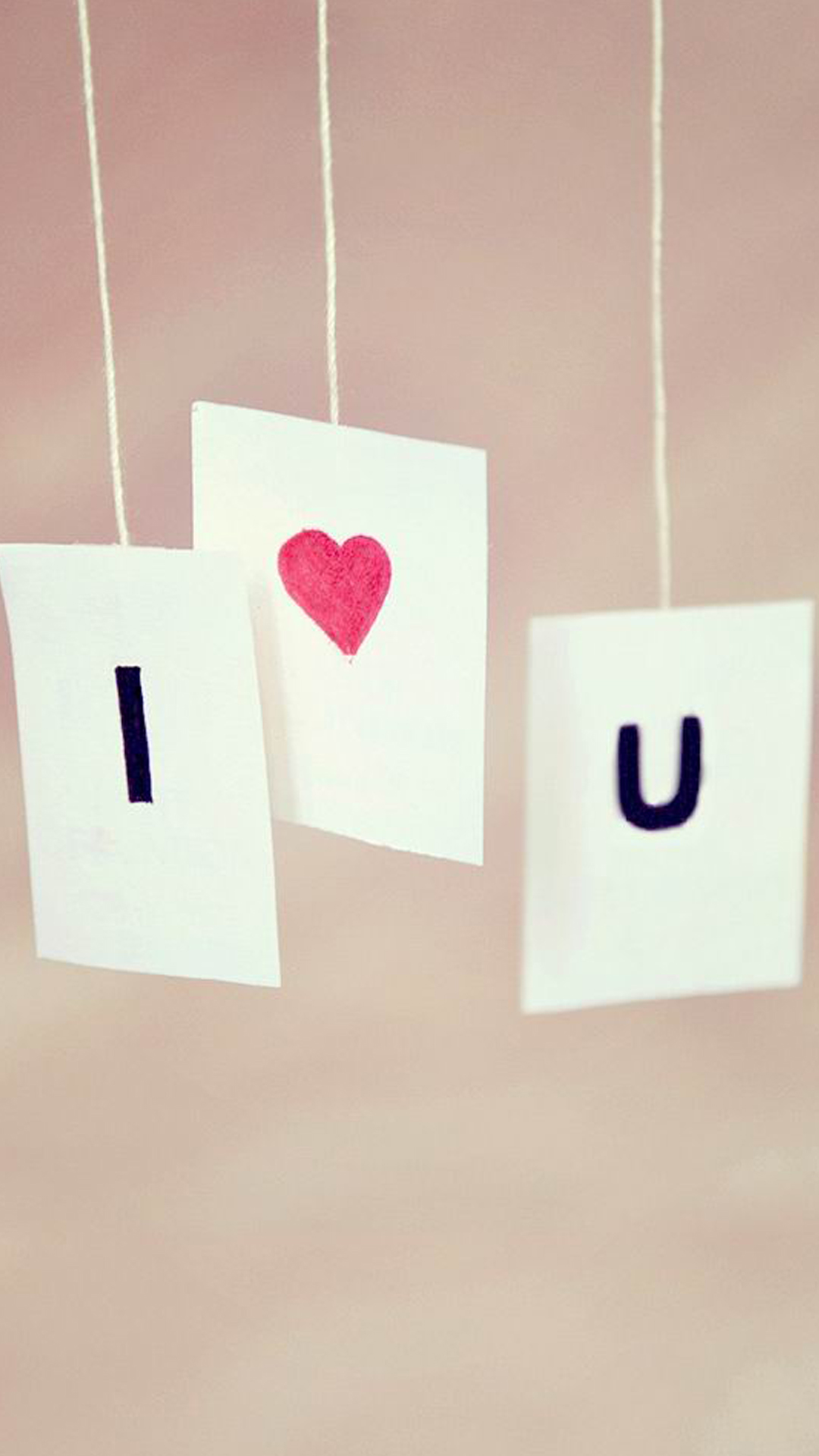Wallpapers For Mobile I Love You : Hanging I Love You