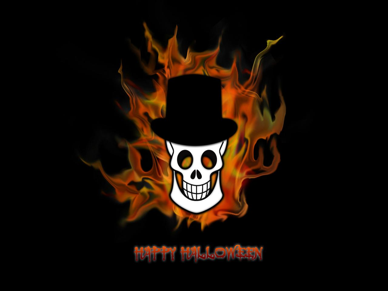 Happy Halloween Skeleton Wallpaper