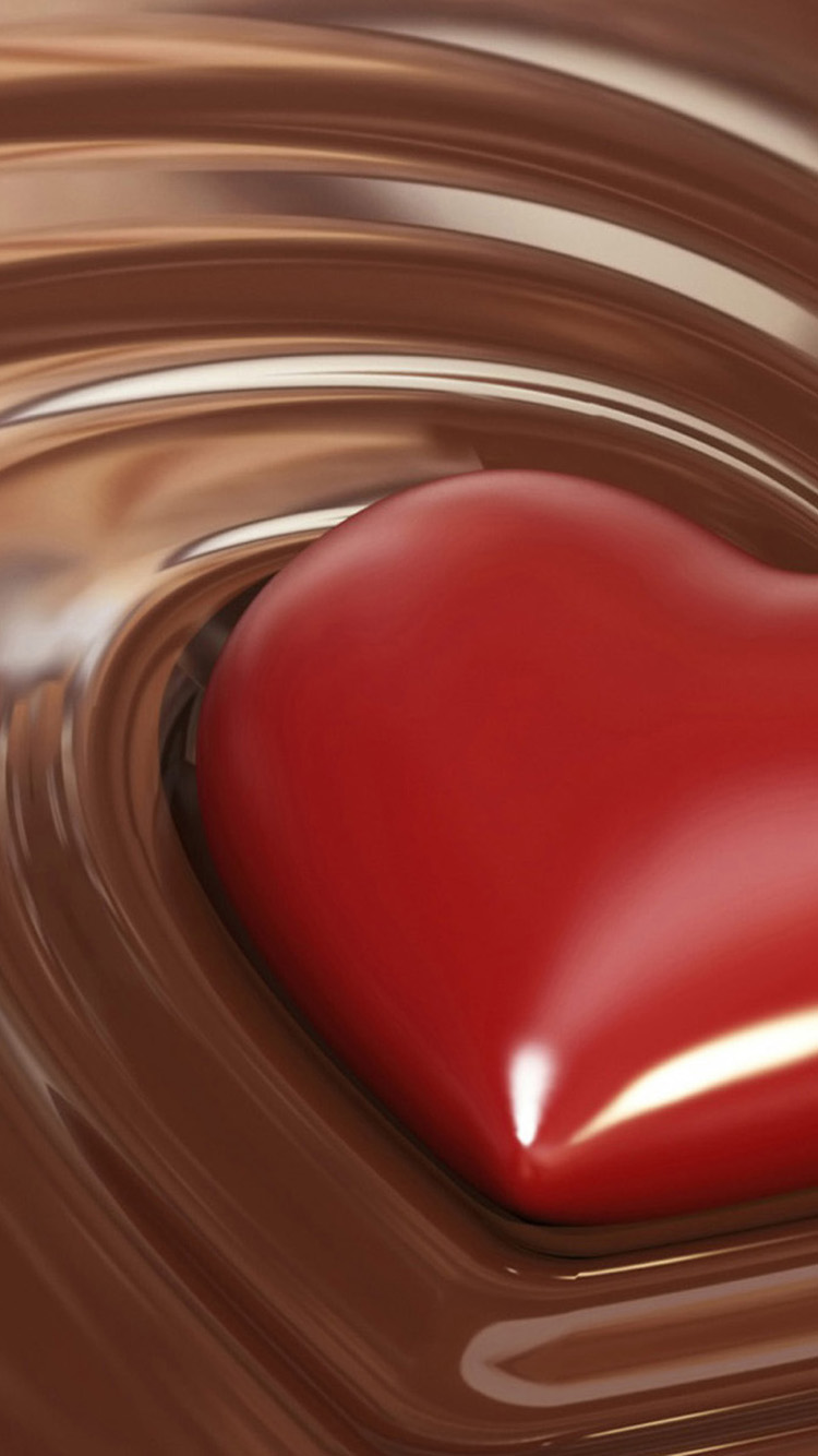 Heart In Liquid Chocolate