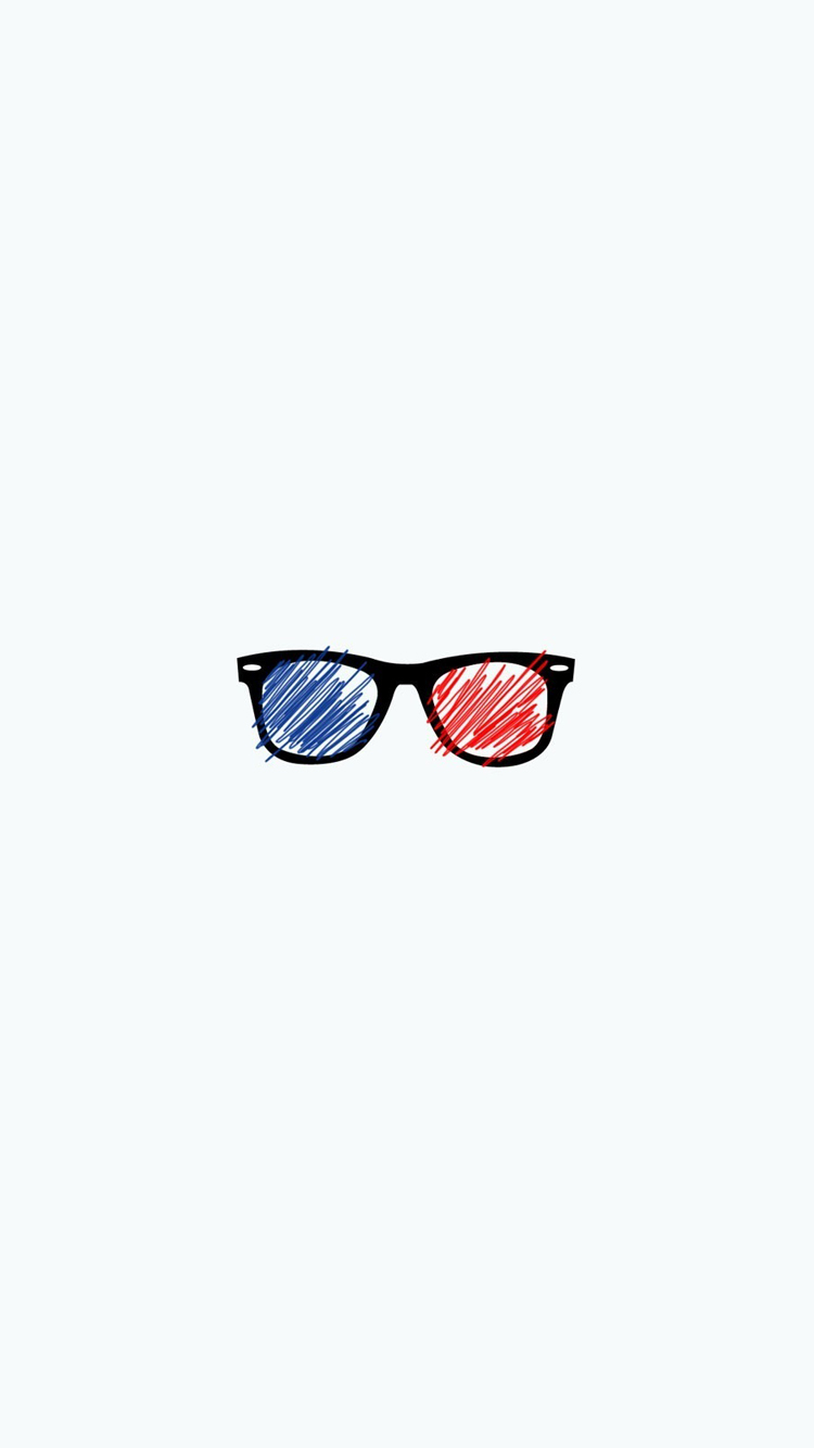 Minimalism Glasses Wallpaper
