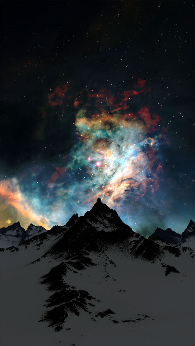 Nebula Over Mountain