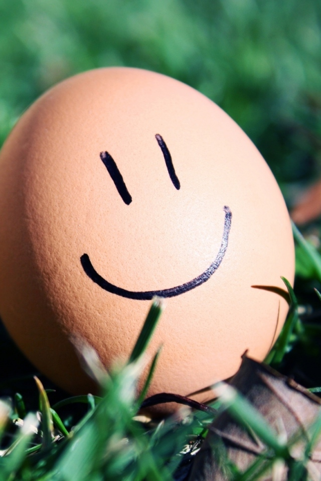Smiling Egg Wallpaper