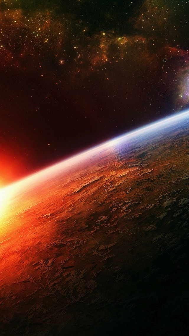 Sunrise View In Space